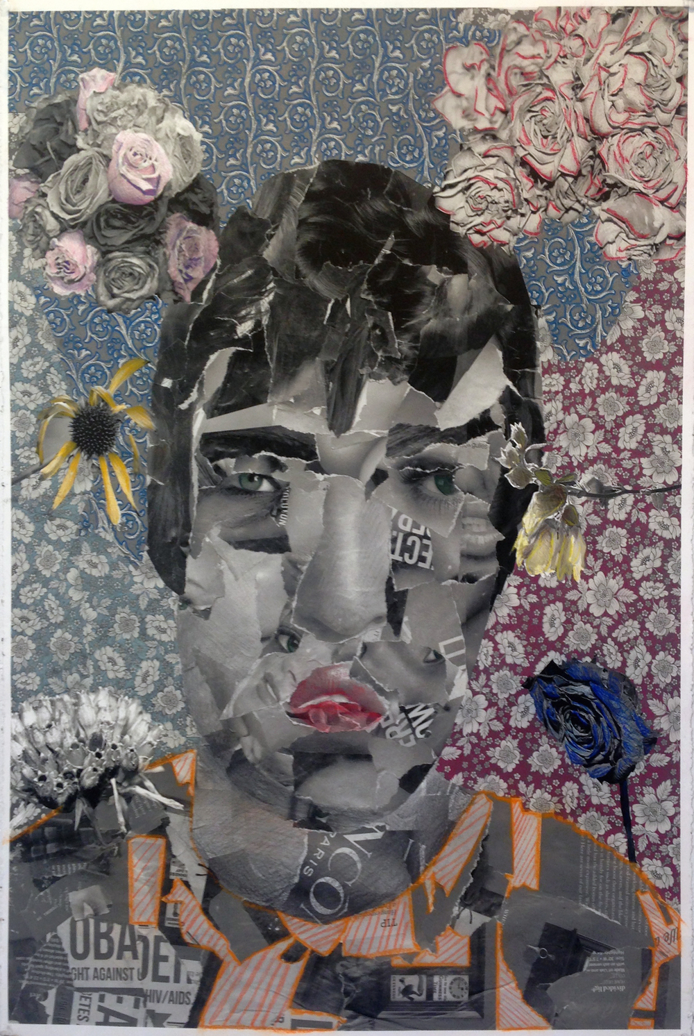 """Self-Portrait"", Collage/Digital Print, 24"" x 40"", 2014"