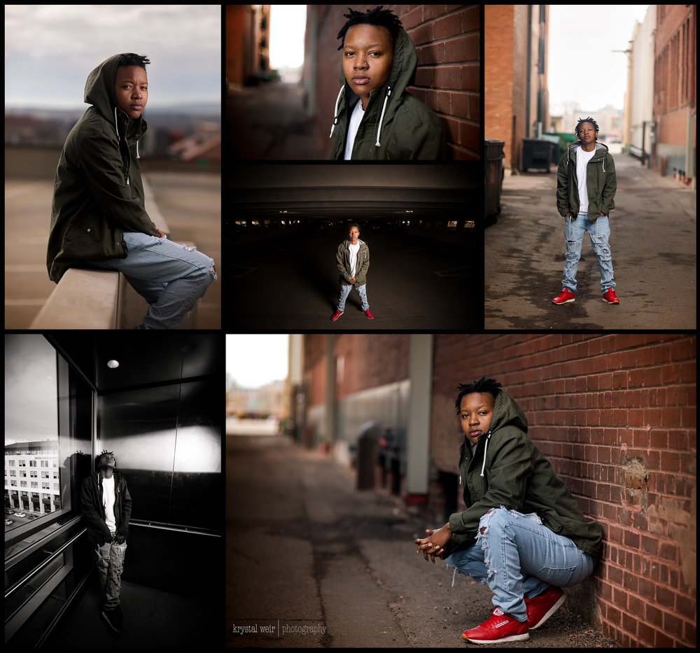 Day 21/365 I felt pretty cool today. I got the chance to photograph a music artist. I have a feeling she will be doing some really big things this year! Here are a few of my favorites!  This session was me stepping outside of my comfort zone. I usually photograph children and families so to be able to photograph a whole different subject, stylistically was a fun opportunity for me. I was to be creative with my lighting and with location. We started off in an alley for me to warm up as well as the artist. So I started off simple with the brick wall shots and center alley shots. I set up my lighting equipment, one single speed light and 24x24 softbox, camera left for the wall shots and camera right for all of the other shots.  People ask settings or how to make the flash look natural. For me it is a combination of light placement and enhancing the visual in post processing/editing. Whenever I use my off camera flash I dial in my settings as usual to get proper exposure of my subject and then I add in my external lighting. My speed light usually stays at about 1/16th power and I'll move the light closer or farther away until I get the desired look. If I need more light that's when I increase the power if I cannot get the light closer to my subject without being in the frame.  I don't feel like I am an expert at this I just do what works for me and I'm happy to share my process. If there is a specific photo that you have a question about feel free to leave it in the comments I will definitely be happy to answer them!