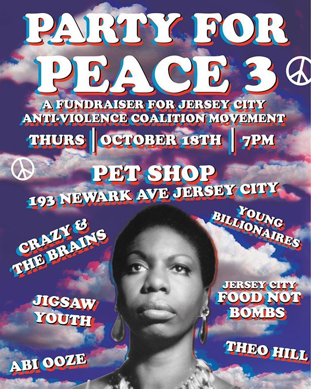 PARTY FOR PEACE 3 #jerseycityantiviolence #abiooze #theohill #jigsawyouth #crazyandthebrains #youngbillionaires #petshopjerseycity