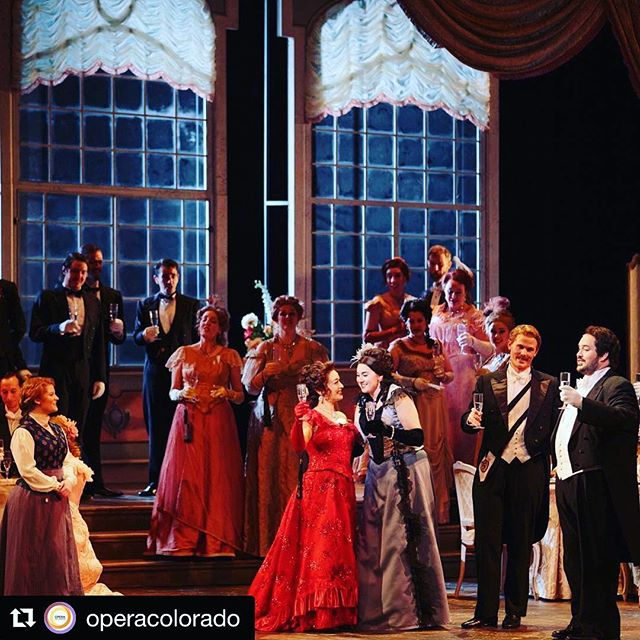"""Look at allllllll these cuties ready for Violetta's party (aka FINAL DRESS)! ❤️❤️❤️ #Repost @operacolorado with @get_repost ・・・ Verdi's """"La Traviata"""" opens this Saturday, but check out this sneak peek from the last dress rehearsal. #TraviataOC  Photos: Opera Colorado/ Matthew Staver"""