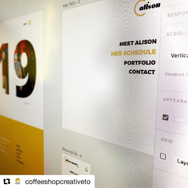 Feeling so FANCY 💅 with this website redesign tho!  Saying bye bye to square space is nerve wracking, @coffeeshopcreativeto is making it pretty easy 💕  Work in progress 👷‍♀️ #Repost @coffeeshopcreativeto with @get_repost ・・・ Friday feeling while wireframing. Getting up close with XD wireframe design 💻 📱 . . @coffeeshopcreativeto - need a website? Let's grab coffee ☕️ . . . #responsivedesign #websitelaunch #weblaunch #coffeeshopcreative #web #website #xd #adobe #adobexd #create #insta #instagram #instagood #instawork #custom #customdesign #wireframe #client #coffee #monitor #laptop #apple #acer #desktop #mobile #uxdesign #uidesign #webapp #toronto