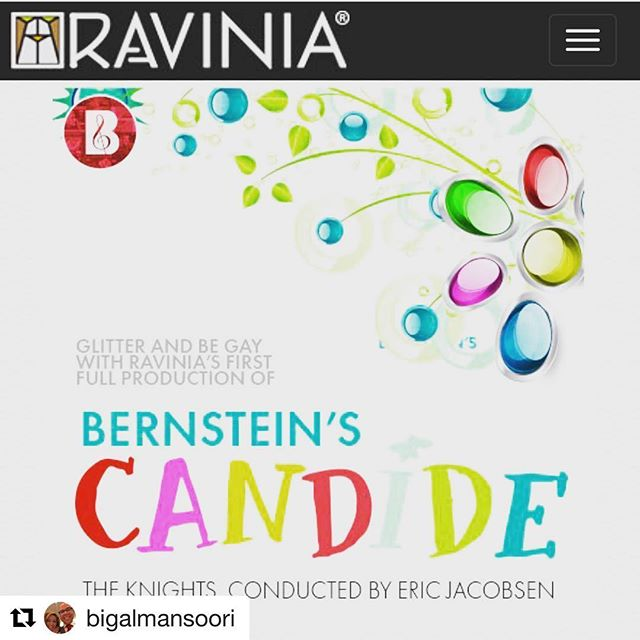 Awwwwww yeah! Getting the band back together for CANDIDE at Ravinia this August. 🥳🥳🥳 Can't wait to reunite with @ejacobsenmusic @johnheginbotham @aaroncopp @amandaseymour013 @ariadnajorunn and all our fab cast and orchestra  This one is close to my heart ❤️💕