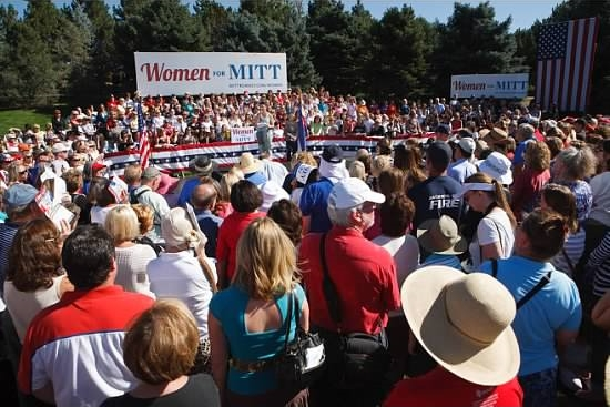 October 2, 2012 -  Photo Courtesy of Steve Peterson  Women for Romney Rally at Hudson Gardens