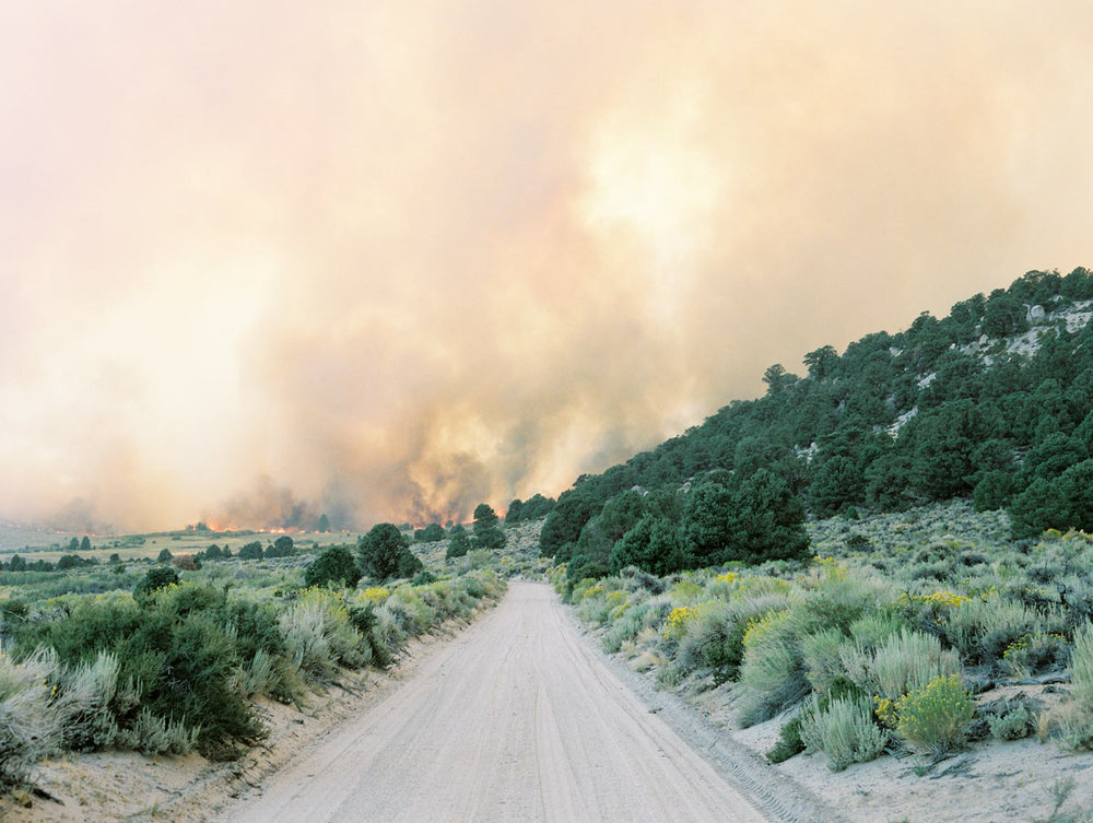 "From ""American Prayer"" series   Fire at June Lake    California, 2015"