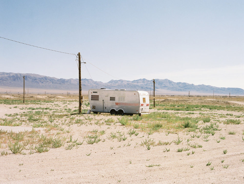 Trailer in the desert Nevada, 2015