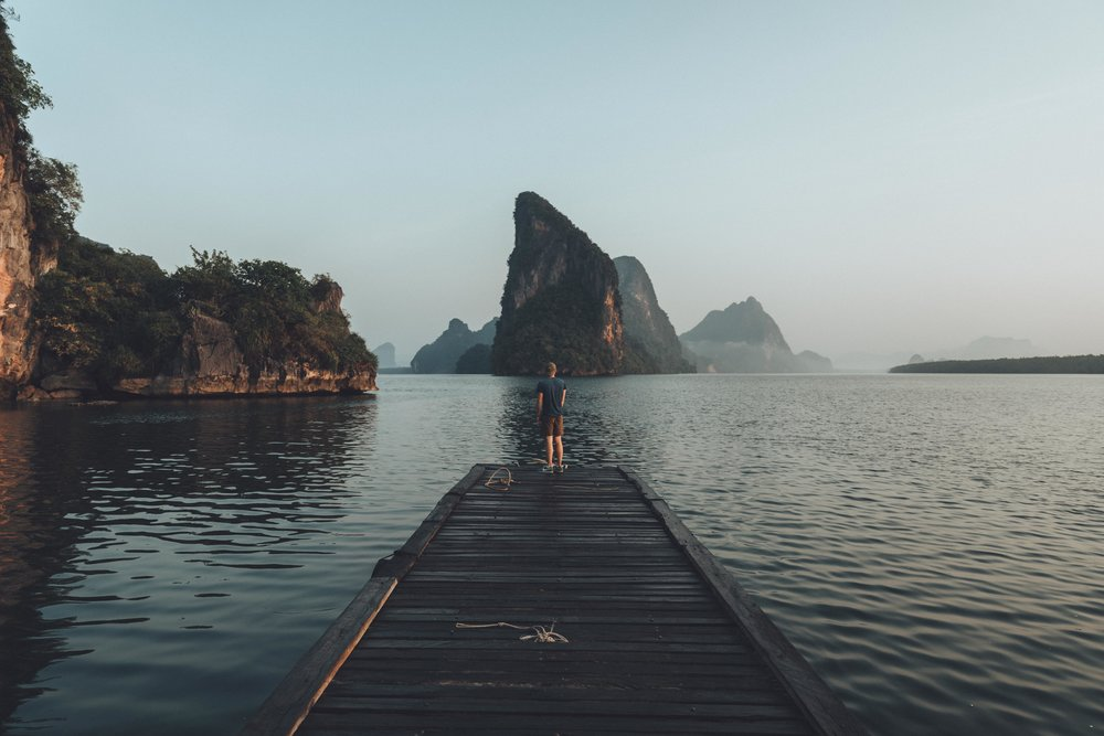 Derek taking in the view of Phang Nga national park