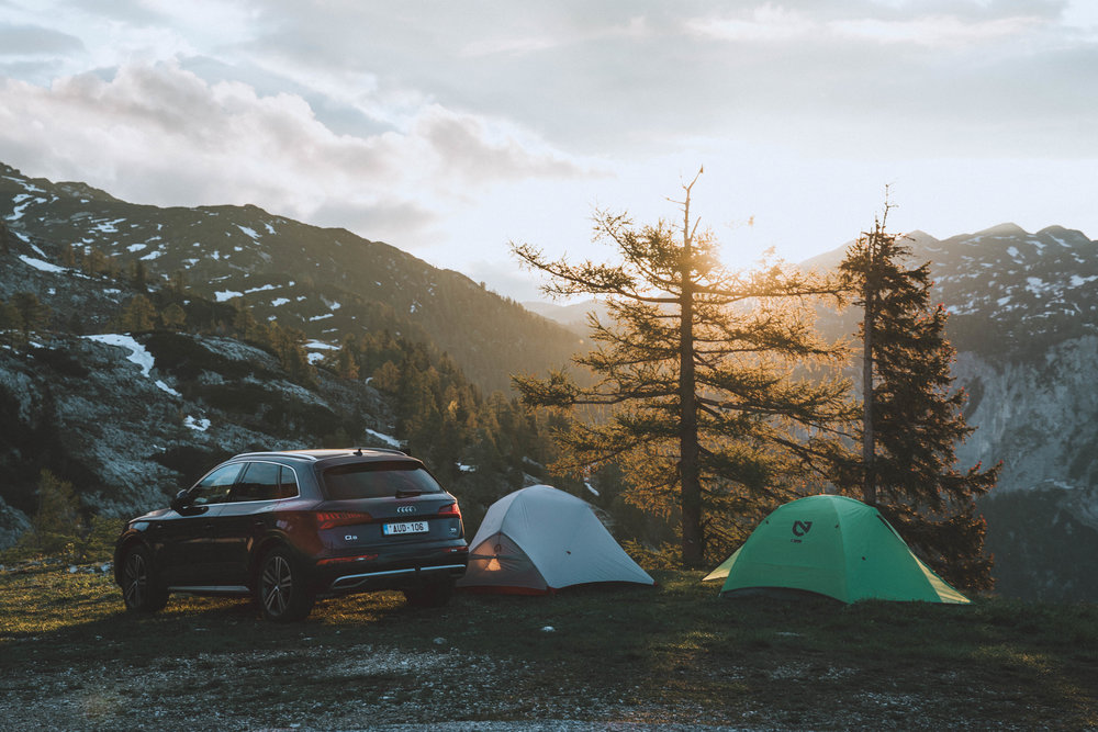 Early sunrise on our campspot