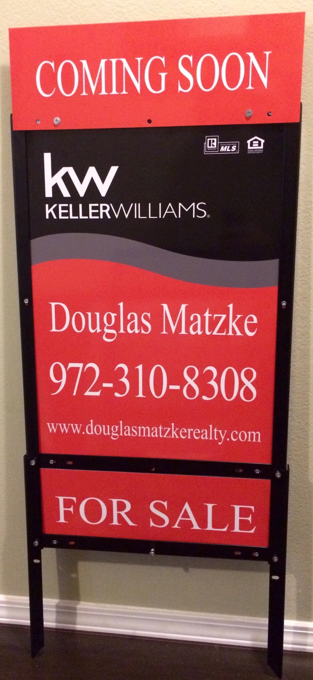 Keller Williams Realty 24%22 x 18%22 Panel & 6%22 x 18%22 Custom Aluminum Rider (TOP & BOTOM) & EZ Frame.jpeg
