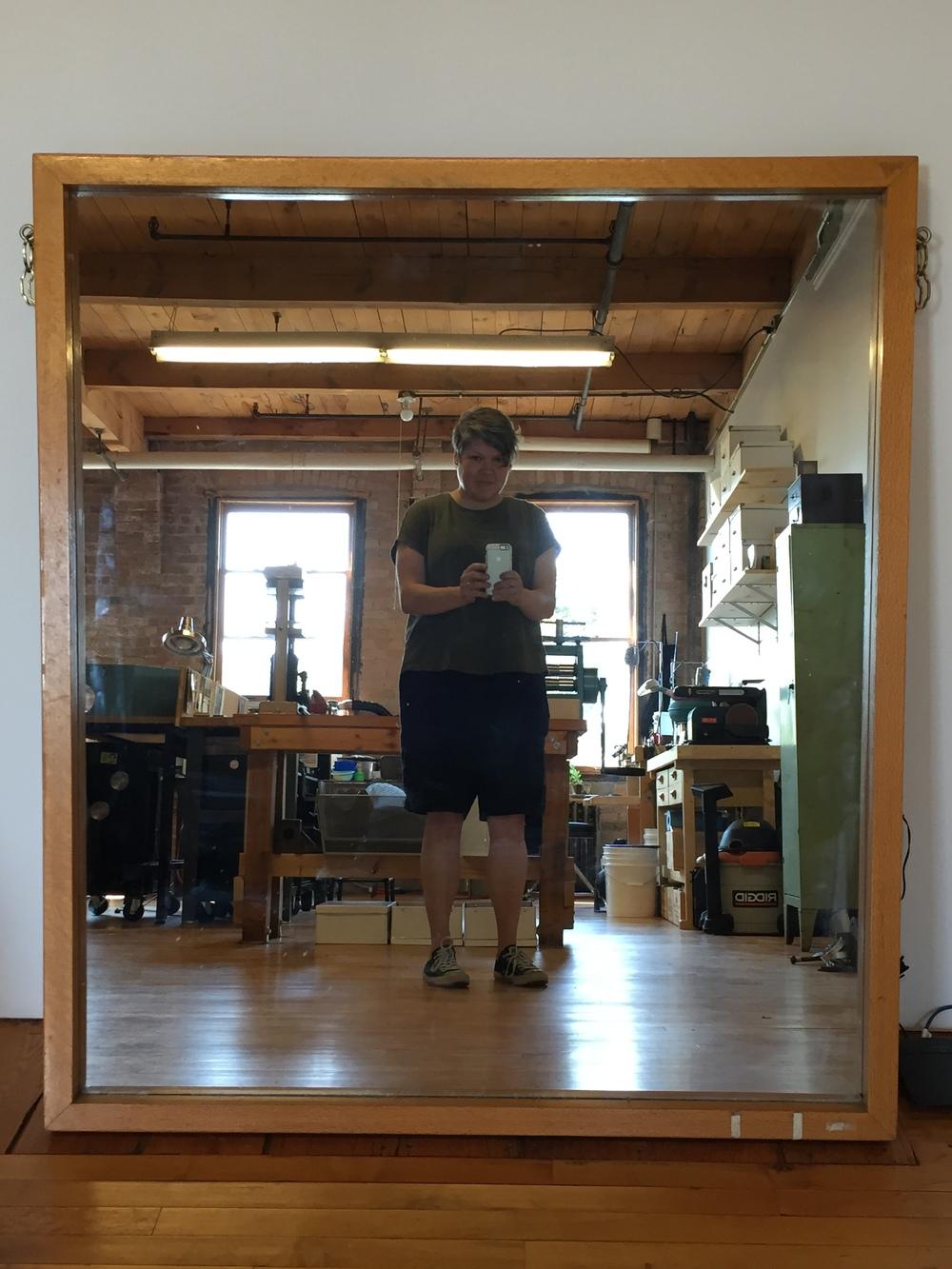 stick leg selfie