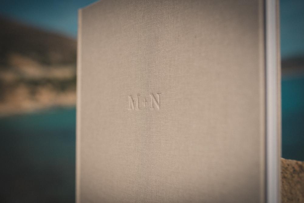 lettere impresse album di matrimonio