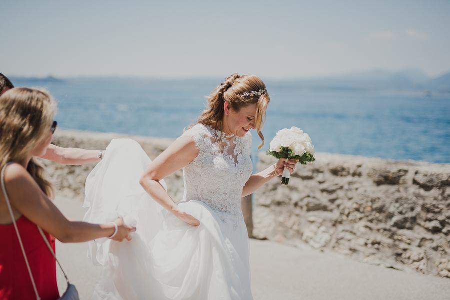 arrivo della sposa al matrimonio