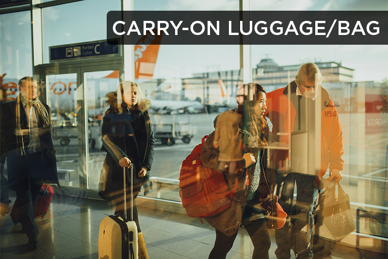 This term refers to the handheld items (such as a backpack, small suitcase, or purse) that airlines allow you to take onto the flight with you.