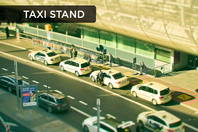 This term refers to locations where taxis that are in high-demand wait in a line for customers.