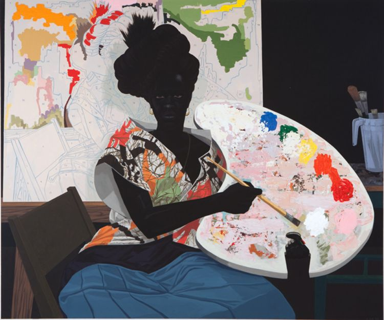 Kerry James Marshall,  Untitled , 2009, Acrylic on PVC, 61 1/8 x 72 7/8 x 3 7/8 in