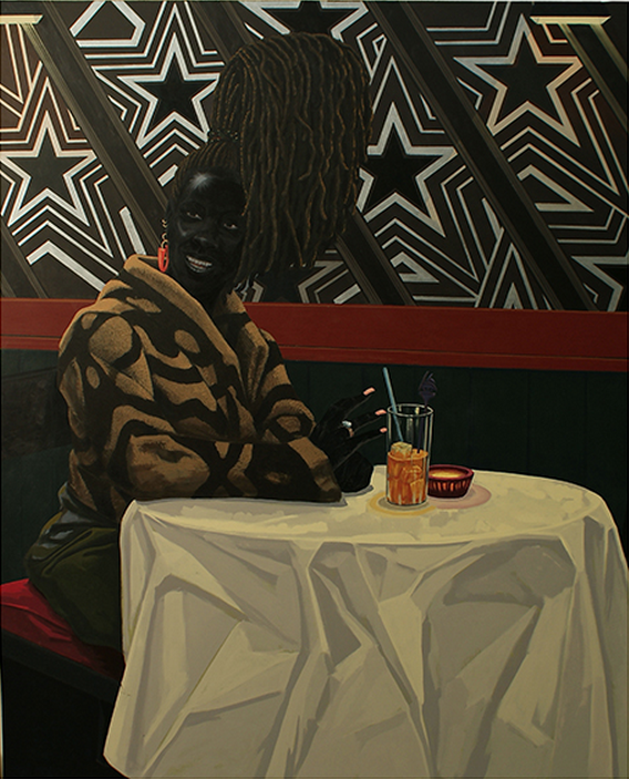 Kerry James Marshall,  The Club , 2011, Acrylic on PVC panel, 150 x 122 cm