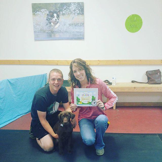 Congratulations Team Kona for completing Canine Manners!  @kuenzifamilypethospital @familypetboarding #clickertraining #waukeshadogtraining #cutepuppiesofwi
