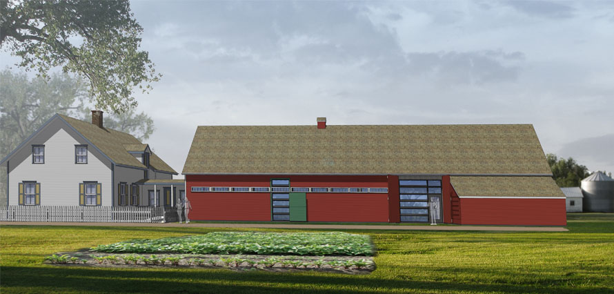 Architect's Image of the Klippenstein Housebarn Education and Resource Centre