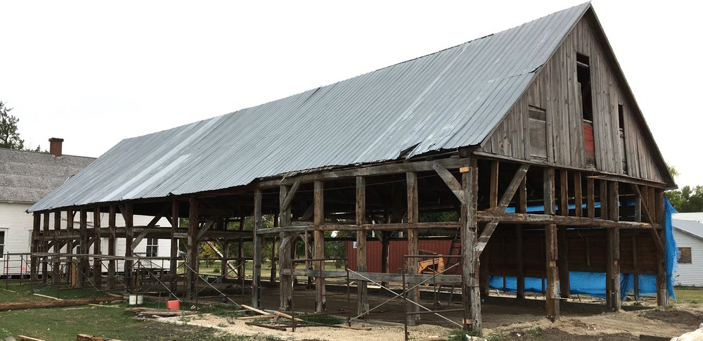 This barn was moved here (from near Steinbach, MB - -(approx 100km) in 1876.   Now it is ready for a second reconstruction.