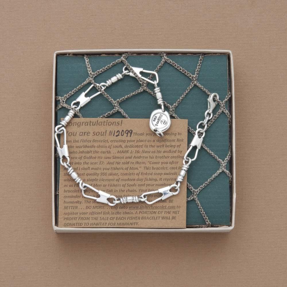 The Fisher Bracelet Original Links Hooked On Jesus Store