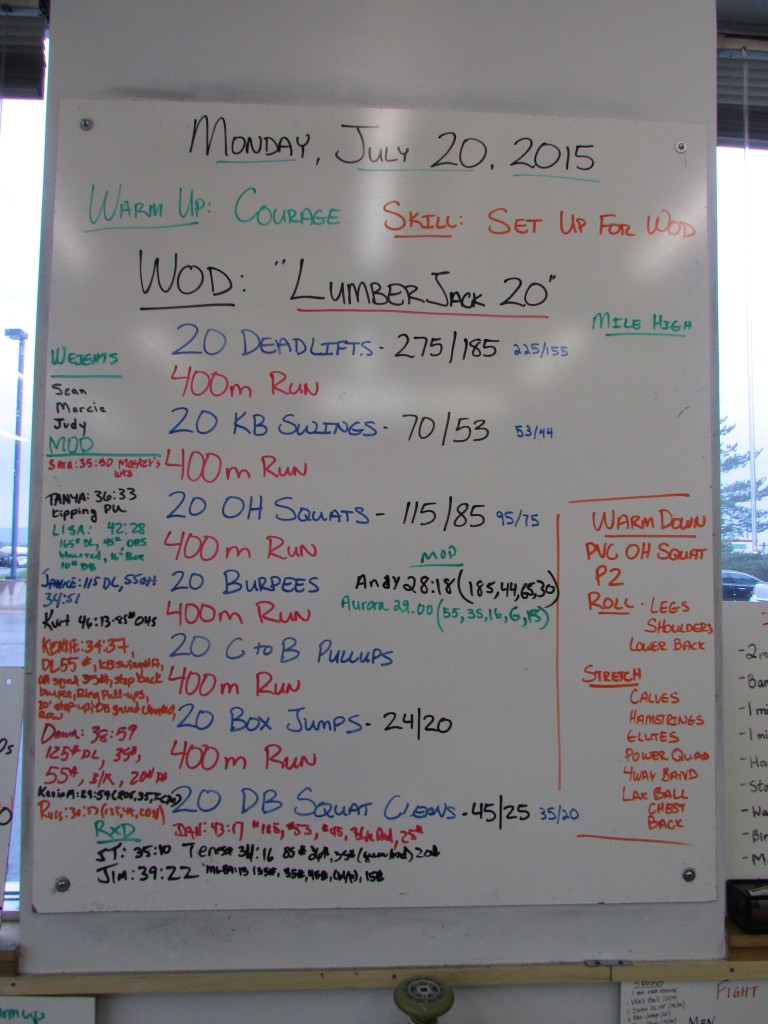 Monday July 20, 2015 Lumberjack