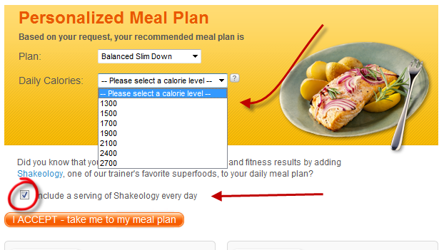 Select Calorie Allotment