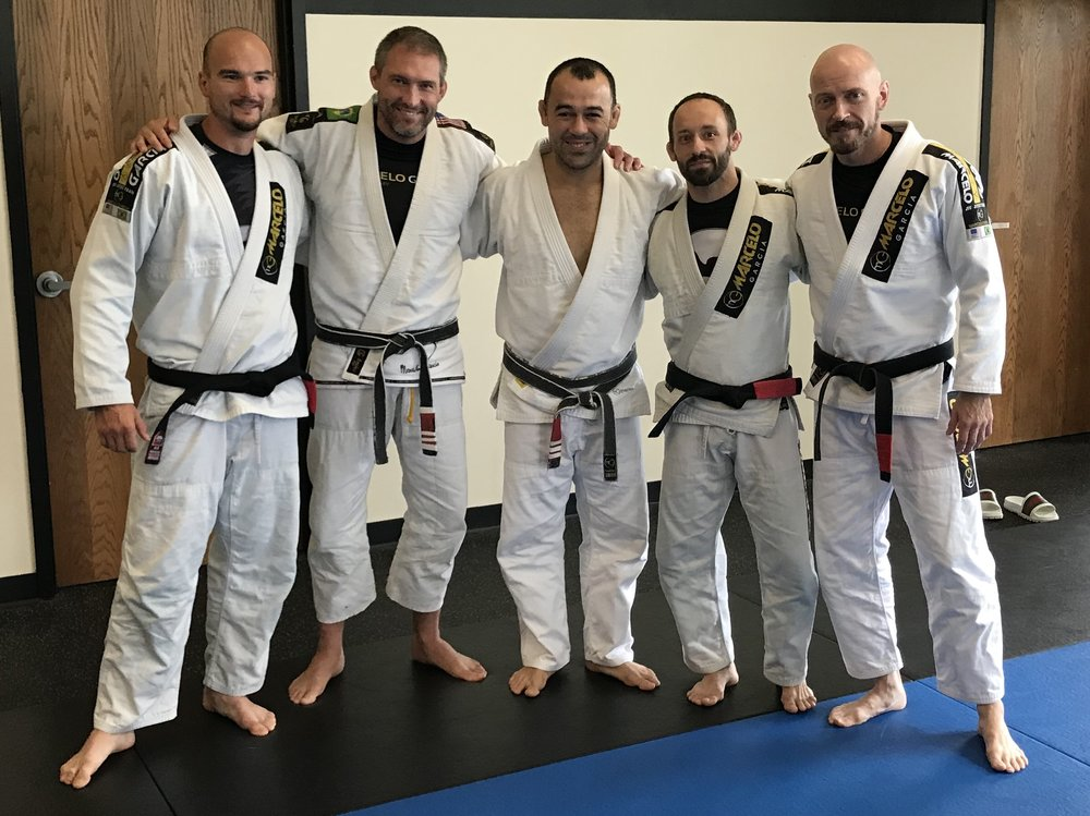 Team Junqueira / Marcelo Garcia Pittsburgh Black Belts pictured left to right: Mike Linza, Rodrigo Junqueira, Marcelo Garcia, Kevin Goodwin and Neale Hoerle