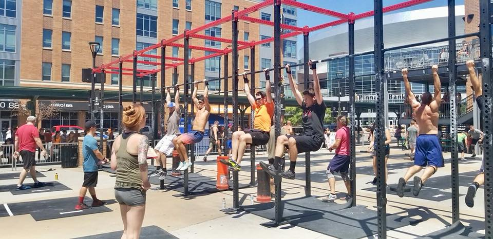 Shannon (Orange Shirt) competing in the Railyard Riot 2018