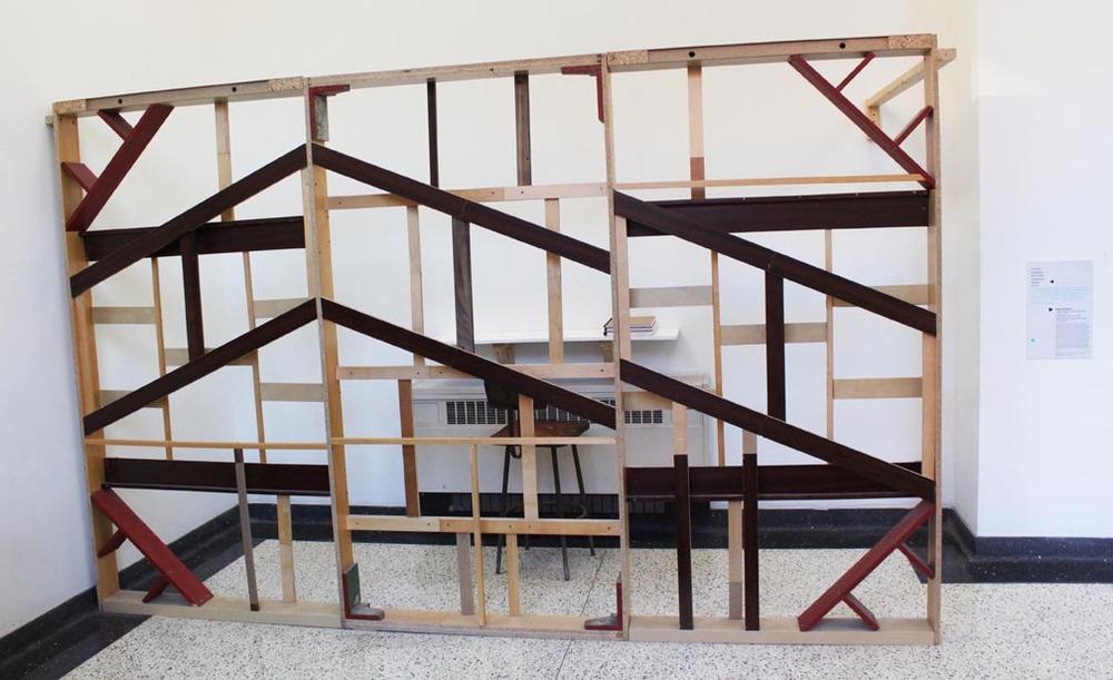 processed bookshelves, wood, hardware (2015)