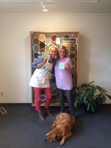 Puji, Jennie and Goose at Colorhouse Paint in Portland, OR