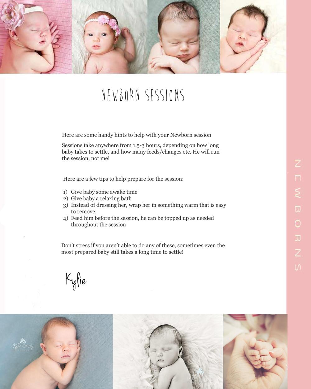 Newborn Session Info