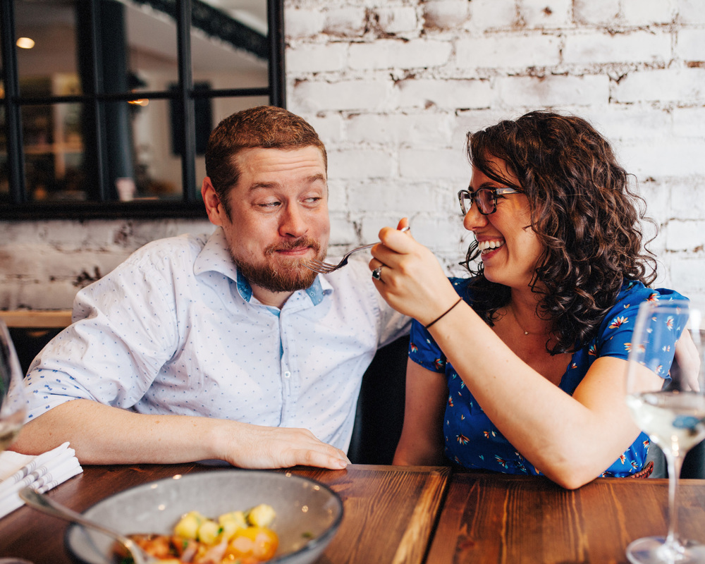 Foodie Engagement Shoot | NYC Engagement