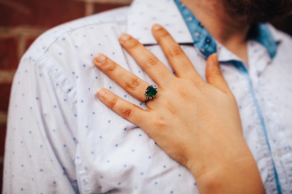 Unique Engagement Ring | Emerald Engagement Ring