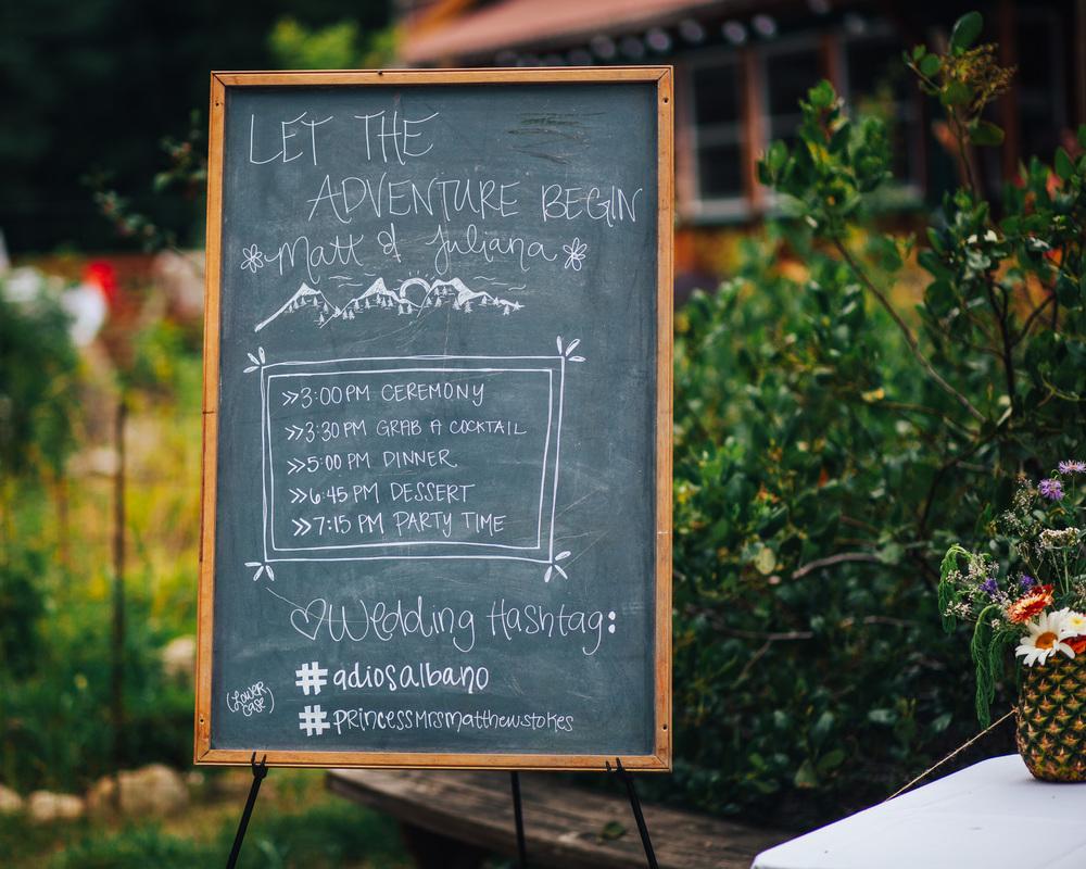 Wedding Decor | Chalkboard Sign