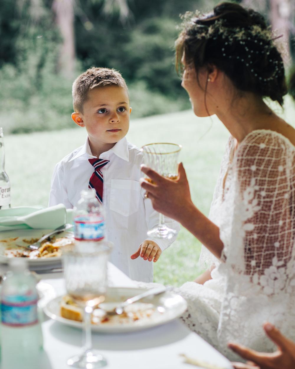 Bride & Little Boy | PNW WEDDING