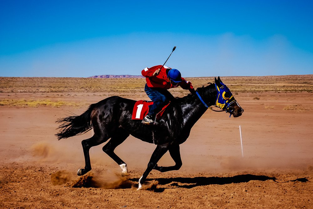 Open Horse Race Action,  Navajo Nation, Arizona
