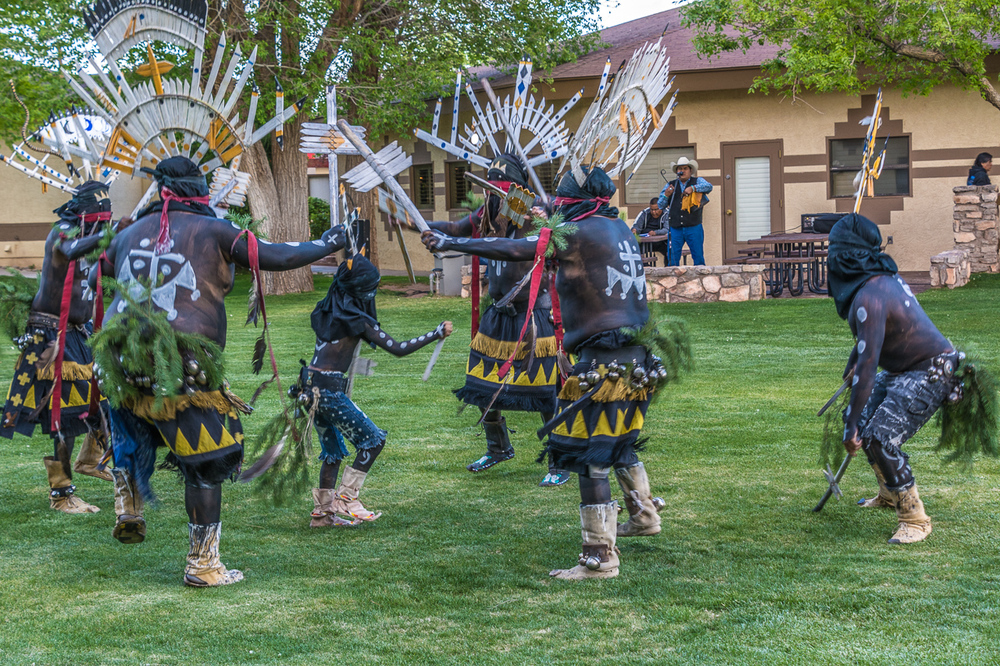 Apache Crown Dancers Encourage Their Youngest Dancer