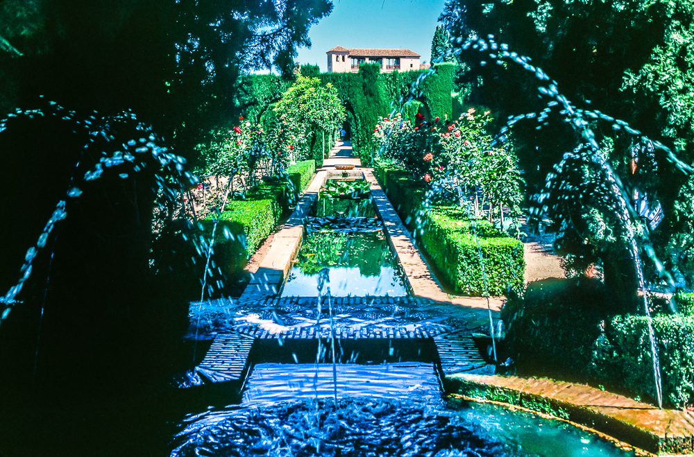 Moorish Water Gardens, Alhambra Palace, Granada, Spain