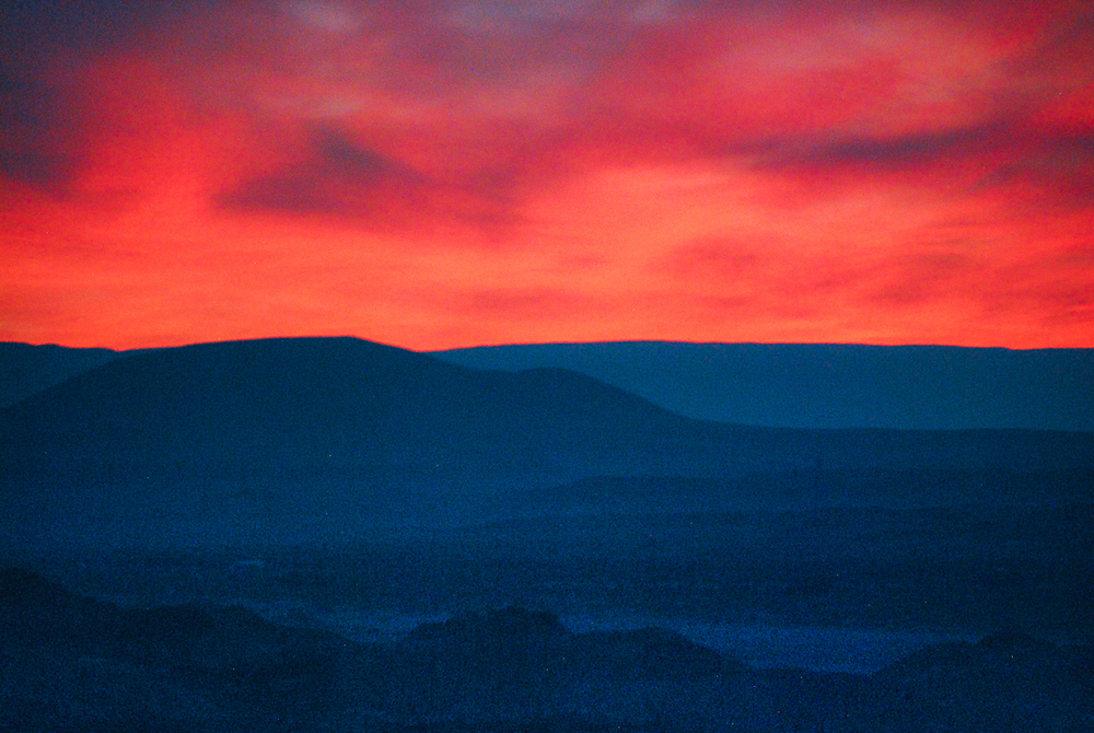 Fiery Sunset Over Hopi Mesas