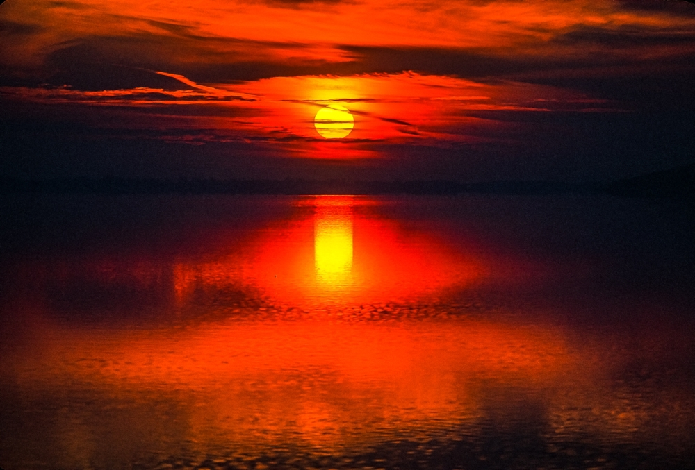 Sunset Red Dream: Green Lake, Wisconsin