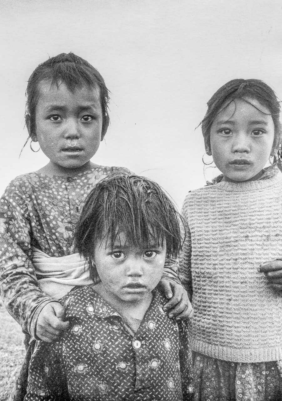 Three Village Children: Nepal