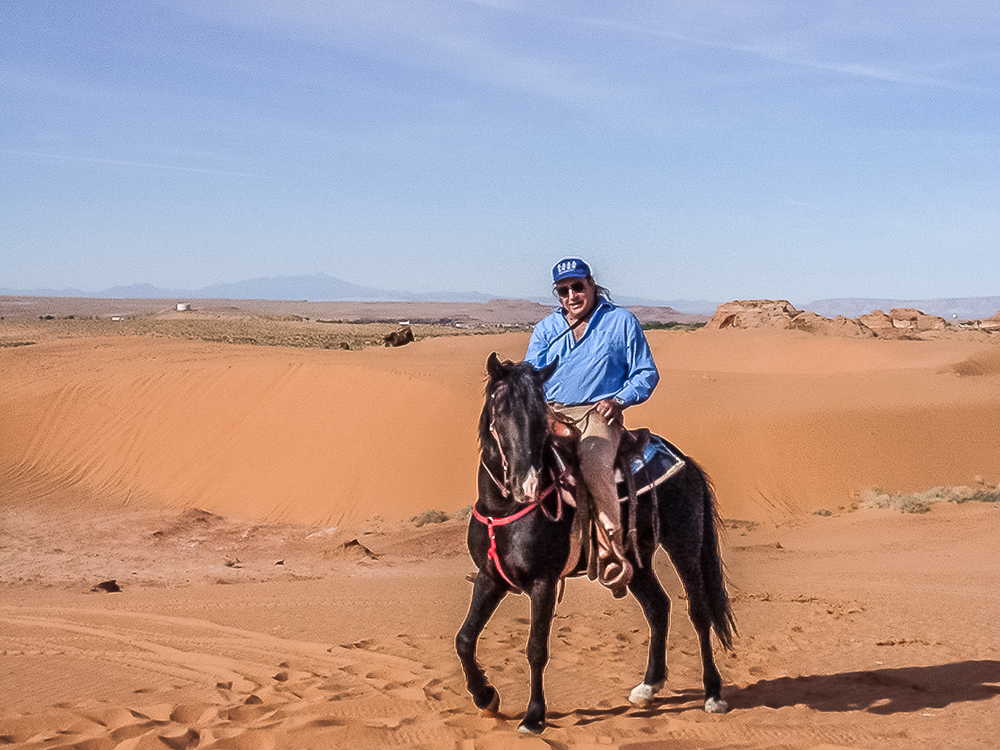 Tom Rides His Stallion Timmy On Tuba City's Dunes