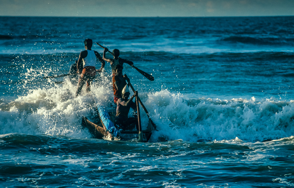 Telugu Fishermen Fight To Launch Into Bay Of Bengal Waves