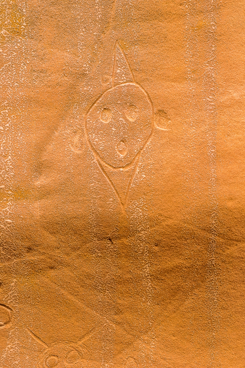HOPI CLOWN PICTOGRAPH / PETROGLYPH, Blue Canyon, Arizona, Navajo Nation (2017)
