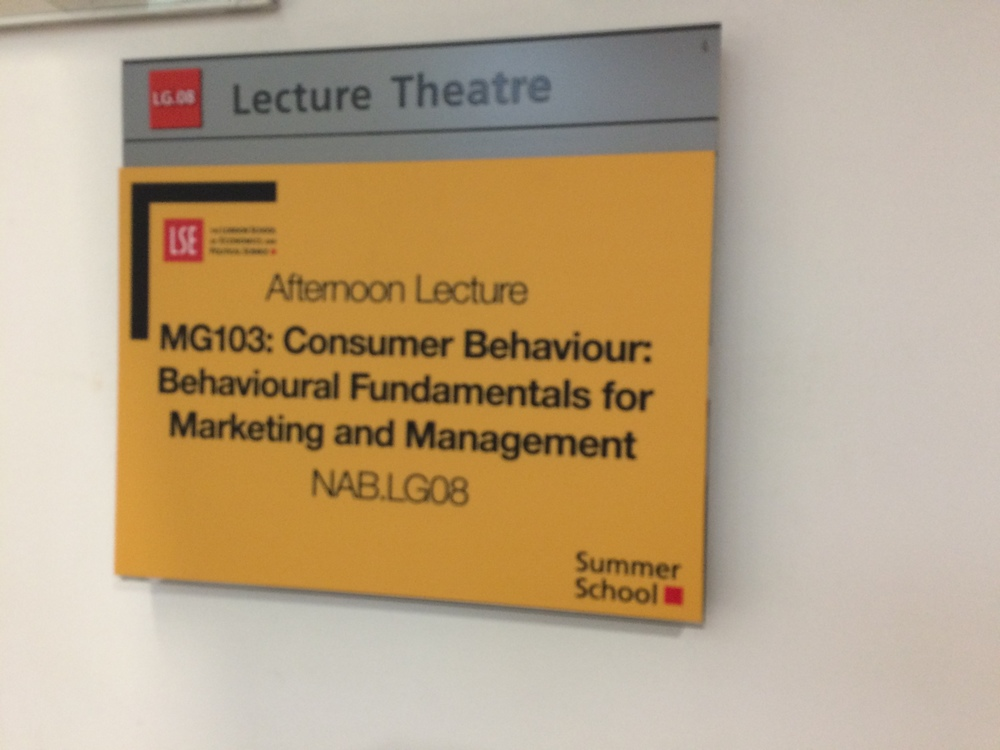 The course I am taking during my first session here is a Consumer Behavior course, which is a big component of Marketing. It takes care of a Marketing credit at UGA!