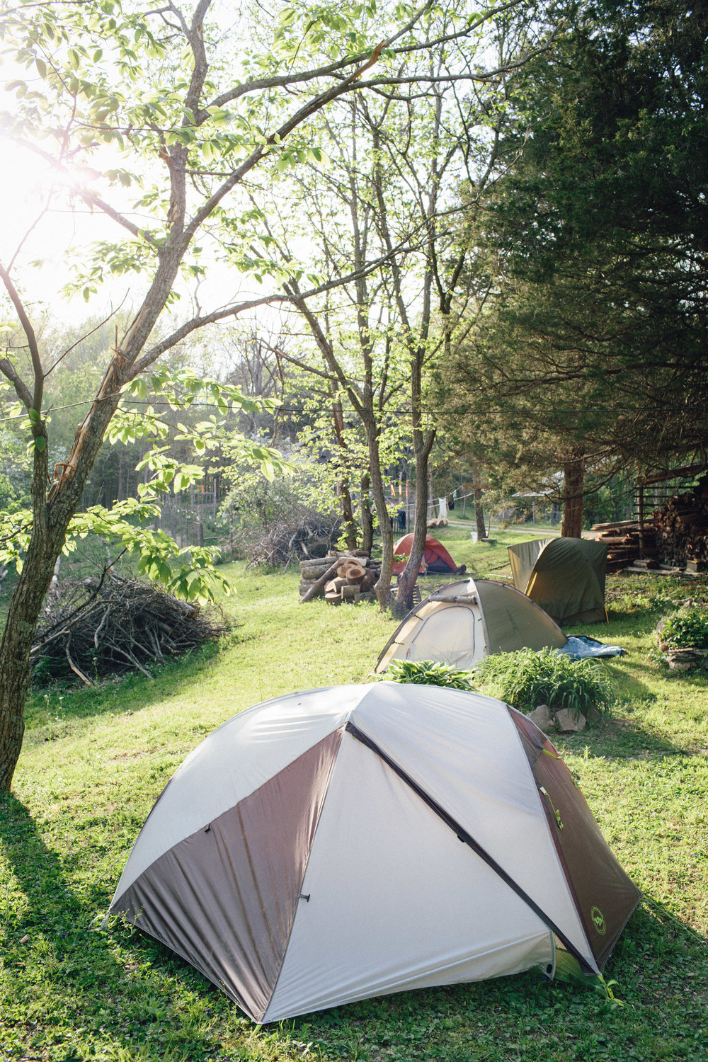 Accommodations consist of camping. This of course, includes occasional late night bon fires.