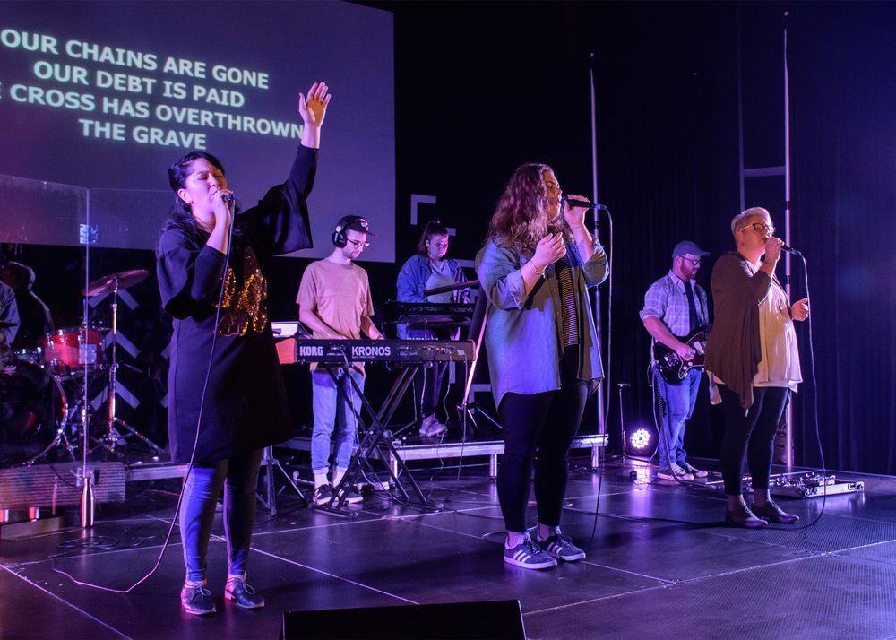 Worship Team - We believe that we are here to glorify God with our creative talents and to lead others into passionate praise and worship.