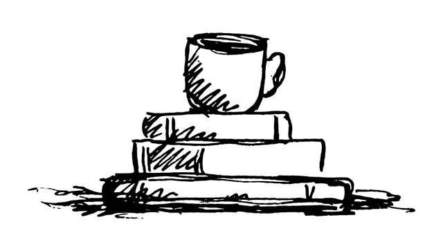 Little sketch for a big logo... coming soon! ☕📚❤ • • • • #illustration #design #logo #brand #author #coffee #books #brandlaunch #calligraphy #scan #womenleaders