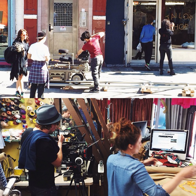 7 AM Movie Shoot in the tailor shop yesterday! Stay tuned... #stantontailorshop #movieshoot #film #nyfilm #fashion #style #tailor #nyc