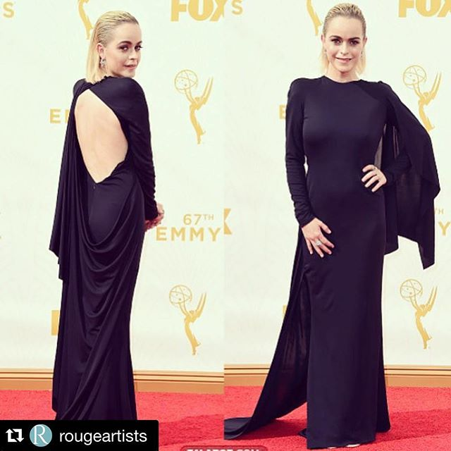 #Repost @rougeartists with @repostapp. ・・・ #Repost @deborahfergusonstylist ・・・ #actress @tarynmanning in @oitnb #orangeisthenewblack #nominated for #best drama series #Netflix #styledby yours truly wearing @rubinsinger #gown @stephenwebsterjewellery #heels  @jeromecrousseau  thank you @stantontailorshop !! #rougeartists #makeup @jenbudner #hair @tonyvin