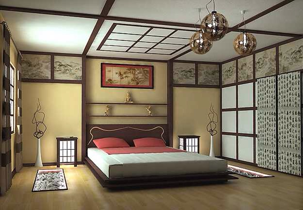 This bedroom shows balance and symmetry to full effect & Japanese inspired Interiors \u2014 % Great ideas for your House and Home
